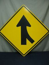 AUTHENTIC MERGE ARROW TRAFFIC STREET SIGN REAL 30 x 30