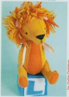 PATTERN - L is for Lion - cute softie/toy PATTERN - Ric Rac