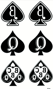 Queen Of Spades Temporary Tattoo,Swinger BBC Hotwife Cuckhold pk of 6, 2 of each