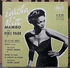 "Trés Rare EP "" Eartha Kitt - Mambo avec Perez Prado "" OR.FR.1957  (VG++/EX)  TBE"