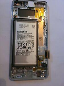 Prism White Samsung Galaxy S10+ G975U LCD Display Touch Screen Digitizer Frame