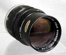 Minolta Auto Tele- Rokkor-PF 1:2.8 f=135mm Lens Looks and Works Great