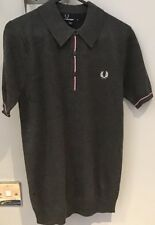 "Fred Perry : Fine Tipped Polo Shirt (XS 32"" ) Graphite Marl"