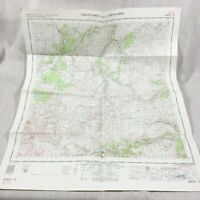 1962 Vintage Militare Mappa Di Grantown Scozia Cairngorm Il Scozzese Highlands