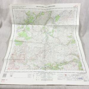 1962 Vintage Military Map of Grantown Scotland Cairngorm The Scottish Highlands