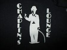 CHAPLINS LOUNGE POLO SHIRT Defunct Ohio Bar Tramp BLACK Charlie Cocktail Large