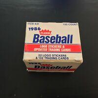 1986 Fleer Update Complete Set Barry Bonds Will Clark Jose Canseco Rookies L3.1