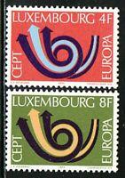 CEPT Europa Jahrgang 1973 LUXEMBURG Motiv Posthorn Satz Michel 862 - 863 ** MNH