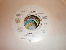 The Who 45 Athena WARNER PROMO