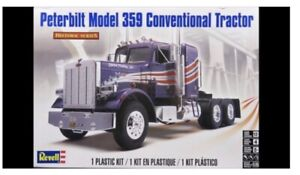 PETERBILT MODEL 359 CONVENTIONAL TRACTOR Truck Revell  1/25 Plastic kit Model