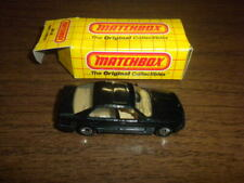 BMW 5-SERIES BLACK -  MATCHBOX VEHICLE/CAR with BOX 1989