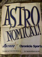 Vintage Houston Astros 1997 NL Central Champions Poster Houston Chronicle