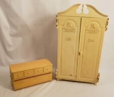 Barbie Vintage Mattel Susy Goose Wardrobe Armoire and Dresser Lot