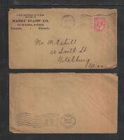 1907 MARKS STAMP CO TORONTO CANADA FANCY ADVERTISING COVER