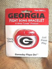 UNIVERSITY GEORGIA BULLDOG FIGHT SONG BRACELET RED & BLACK~(SMALL)~NEW CARDED