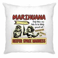 Marijuana Cushion Cover Reefer Space Madness Marijuana Smoking Joke