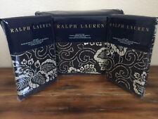 Ralph Lauren Durant Kira Blue 3 PC King Duvet Cover Pillow Shams Set Floral