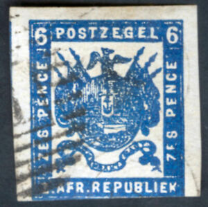 Transvaal Sc 41 6p Imperf 1875-77 First South African Republic
