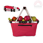 100% Genuine! D.LINE Shop & Go Collapsible Carry Basket 37 x 21 x 23cm Red!