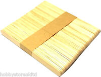 Wooden Lolly Sticks Large Plain Coloured Lollysticks Natural Wood Craft Sticks