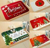 Christmas Door Mat Rug Carpet Santa Claus Xmas Decoration For Home Party 2019