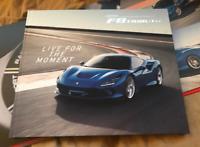 GENUINE 2019 FERRARI F8 Tributo brochure hardcover Prospekt catalogue #95993565