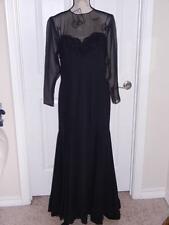 Vintage Fiandaca Black Evening Gown with Sequins and Beads