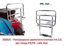 0200/C Portapacchi Posteriore Cromato con Ribaltina FACO per LML Star - Vespa PX