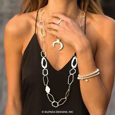 Silpada Make Connections Necklace N3225 Sterling Slvr 36 in.
