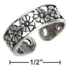 Flowers Row Toe Ring Sterling Silver 925 Best Deal Plain Jewelry USA Seller