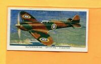 1938 W.D. & H.O. WILL'S CIGARETTES SPEED COLLECTOR CARD #9 SPITFIRE FIGHTER