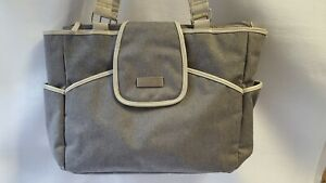 Carter's Just One You Diaper Tote Bag Gray/Beige Canvas