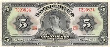 México  5  Pesos   24.4.1963  Series  AIM  Prefix  T  Circulated Banknote