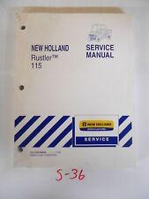 NEW HOLLAND RUSTLER 115 SERVICE MANUAL RUSTLER 115 UTV ATV SIDE BY SIDE 11/09