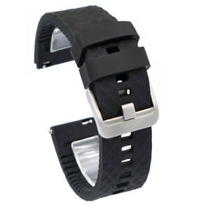 Soft Sport Silicone Watch Bands Wristwatch Strap 22mm - Stainless Steel Buckle