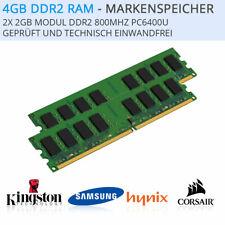 4GB, 2x 2GB DDR2 RAM Arbeitsspeicher PC2-6400U 800Mhz INTEL + AMD Gewährleistung