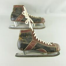 1960s Vintage Cj Higgins Leather Men's Hockey Skates Size-11 Collector's Item