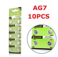 10PCS AG7 LR927 395 SR927 195 1.5V Alkaline Button Coin Cells Watch Battery FS