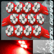 12x For Scion Subaru Red SMD 4 LED T10 Wedge Interior Map Panel Gauge Light Bulb