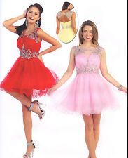 Short/Mini Formal Prom Dresses Cocktail Ball Evening Party Dress Homecoming 4~20