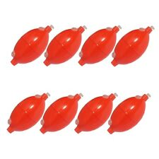 SET OF 8 OVAL IN-LINE BUBBLE FLOATS SMALL 30mm ORANGE