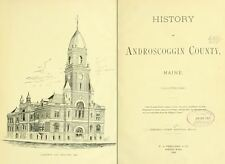 1891 ANDROSCOGGIN County Maine ME, History and Genealogy Ancestry DVD CD B04