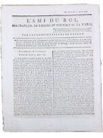 Rare Journal Royaliste l'ami du Roi 1791 Révolution Française Constitution