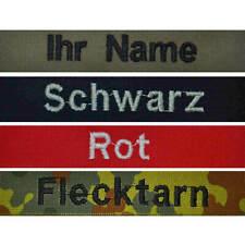 Namensschild mit Klett,gestickt,tarn,  oliv, blau, Bundeswehr, Feuerwehr