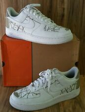 RARE🔥 Nike Air Force 1 Premium LOS ANGELES  MAP LASER MR. CARTOON WHITE DS Sz13
