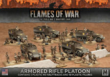 Flames of War NUOVO CON SCATOLA BLINDATO RIFLE PLATOON (Plastica) UBX51