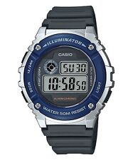 W-216H-2A Resin Band Digital Alarms 7-Year Battery Life Men's Casio 50m