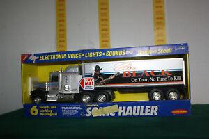 "1994 CLINT BLACK Buddy L Sonic Hauler Toy Semi Kenworth Truck 23"" Long"