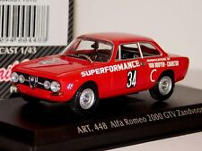 ALFA ROMEO 1750 GTV #34 ZANDVOORT 1970 DETAIL CARS ART 448 1/43