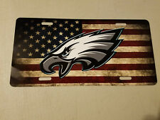 Philadelphia Eagles License Plate American Flag